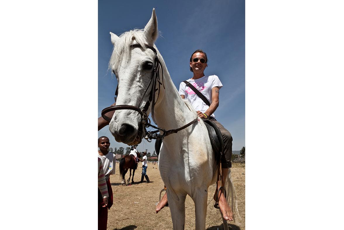 Auf dem Polo-Feld von Addis Abeba